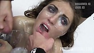 Premium bukkake - nona swallows 89 biggest mouthfu...