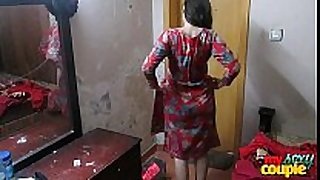 Indian cheating sexually horny messy floozy amateur wife sonia in shalwar suir strips nude ...