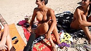 Topless beach interviews with real sexually horny bitches ...