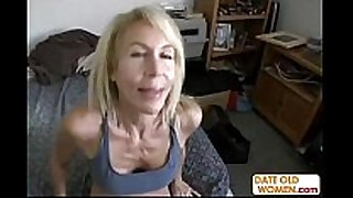 Hot gilf with bushy indecent cleft receives big weenie