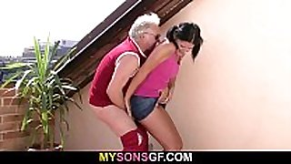 He finds her engulfing and riding his dad's wang