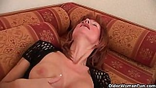 Sultry senior sexually lewd cheating white chicks is toying her beefy wet crack