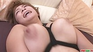 Busty milf meguru kosaka gets her bald love tunnel ...