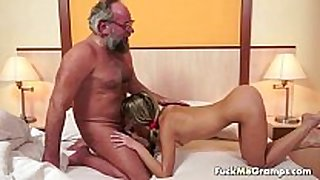 Lucky old bastard bangs enchanting lustful white slutty white BBC floozy