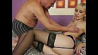 Grandpa fucking youthful golden-haired BBC doxy