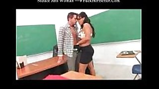 Busty teacher drilled widely his student