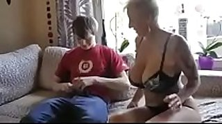 Busty step mom screwed by son's friend